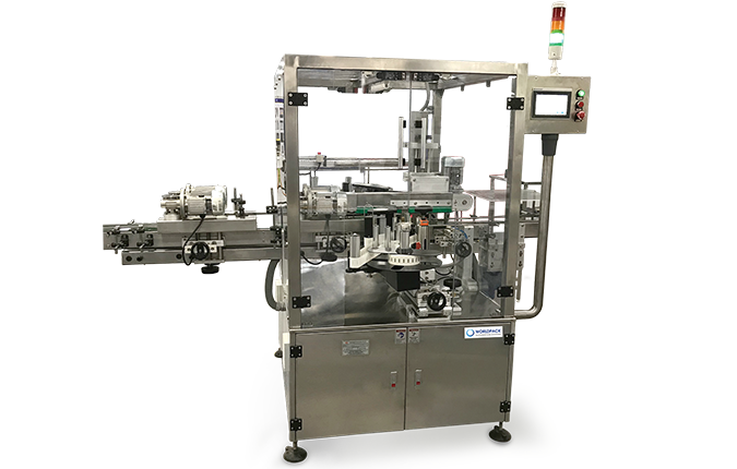 Tamper evident labelling machine